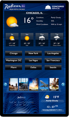 radisson blu virtual concierge weather