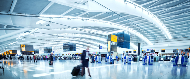 airports digital signage